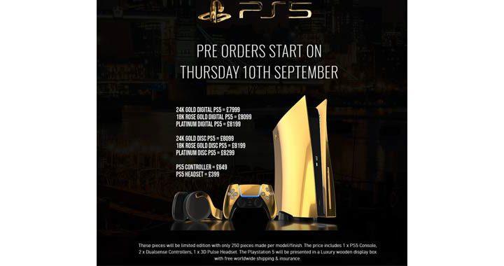 Playstation 5 aperti i pre-ordini per la versione placcata oro